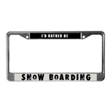 Snow Boarding License Plate Frame