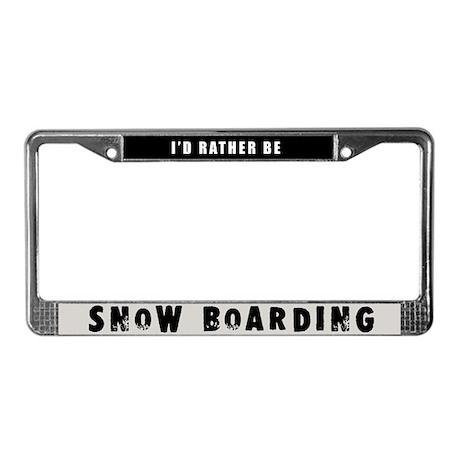 Snow Boarding License Plate Frame