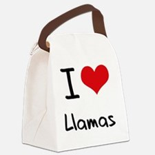 I Love Llamas Canvas Lunch Bag