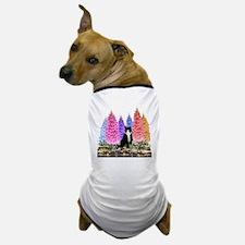 Tuxedo Cat among the Foxgloves Dog T-Shirt