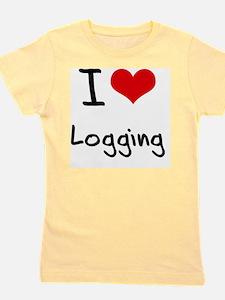 I Love Logging Girl's Tee