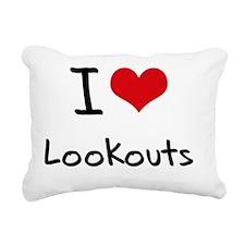 I Love Lookouts Rectangular Canvas Pillow