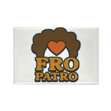 Fro Patro with Heart Rectangle Magnet