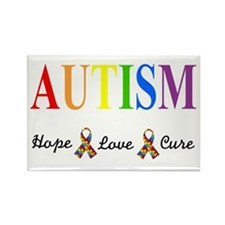 3-hope,love,cure Magnets