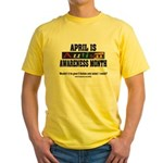 Autism Month Yellow T-Shirt