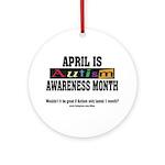 Autism Month Ornament (Round)