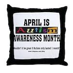 Autism Month Throw Pillow