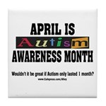 Autism Month Tile Coaster