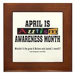 Autism Month Framed Tile