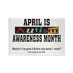 Autism Month Rectangle Magnet