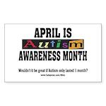 Autism Month Rectangle Sticker