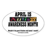 Autism Month Oval Sticker