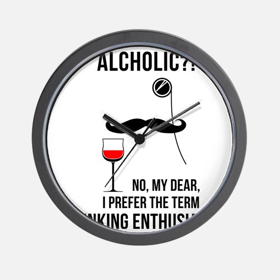 Drinking enthusiast Wall Clock