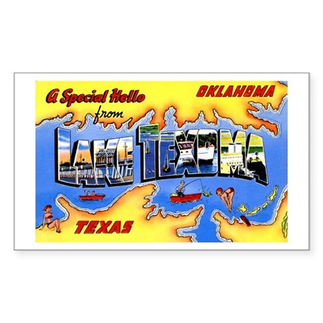 Lake Texoma Greetings Rectangle Sticker