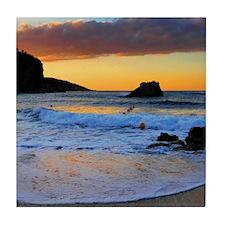 Mediterranean Sunset Tile Coaster