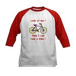 I Can Ride a Bike Kids Baseball Jersey