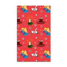Christmas, White Swans  Top H Rectangle Car Magnet