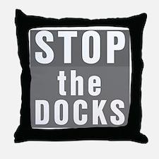 BW Docks Throw Pillow