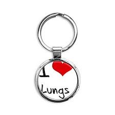 I Love Lungs Round Keychain