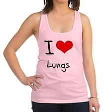 I Love Lungs Racerback Tank Top