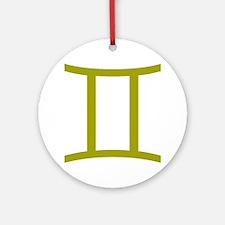 Gemini Round Ornament