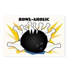 Cute Bowling league Postcards (Package of 8)