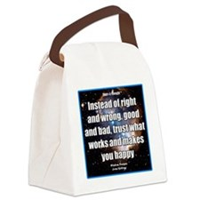 Right Wrong iPhone Canvas Lunch Bag
