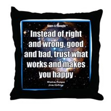 Right Wrong iPhone Throw Pillow