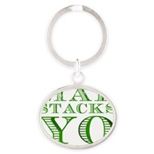 Mad Stacks Yo - Breaking Bad Oval Keychain