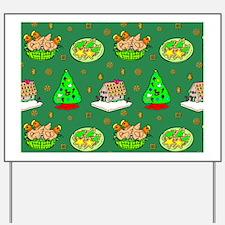 Christmas, Trees, Cookies, Hens Yard Sign