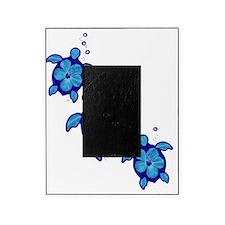 Blue Hibiscus Honu Turtles Picture Frame