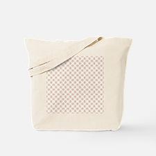 Brown Circles  Pink Dots Tote Bag