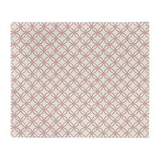 Brown Circles  Pink Dots Throw Blanket