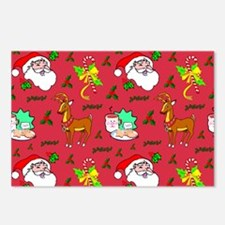 Christmas, Santa Claus, R Postcards (Package of 8)