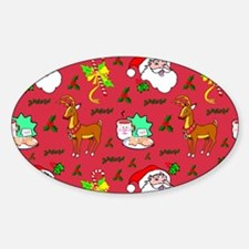 Christmas, Santa Claus, Reindeer, C Decal