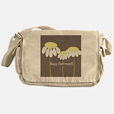 happy retirement daisies Messenger Bag
