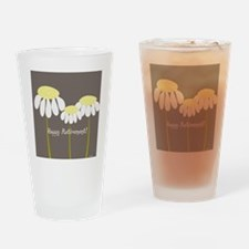 happy retirement daisies Drinking Glass