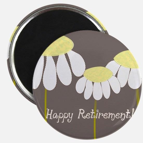happy retirement daisies Magnet