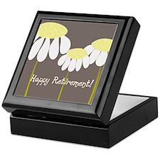 happy retirement daisies Keepsake Box