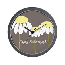 happy retirement daisies Wall Clock