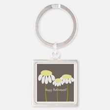 happy retirement daisies Square Keychain