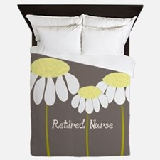 Retired Nurse Daisies Queen Duvet