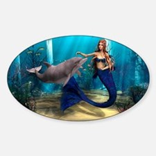 Mermaid and Dolphin Decal
