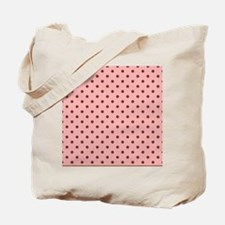 Pink with Brown Dots Tote Bag
