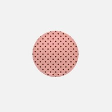 Pink with Brown Dots Mini Button