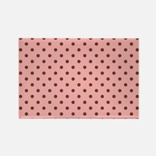 Pink with Brown Dots Rectangle Magnet