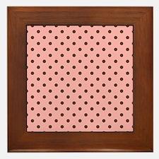 Pink with Brown Dots Framed Tile