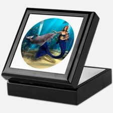 Mermaid and Dolphin Keepsake Box