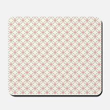 Brown Circles  Pink Dots 2 Mousepad