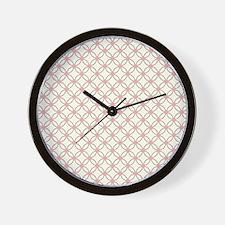 Brown Circles  Pink Dots 2 Wall Clock